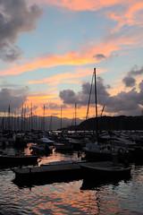 Italian Sunset (Woolythebear) Tags: sunset sea summer sky italy water boats evening harbor nikon dusk nikkor sailingboats lerici 2470mmf28 d700 charlesmurphy