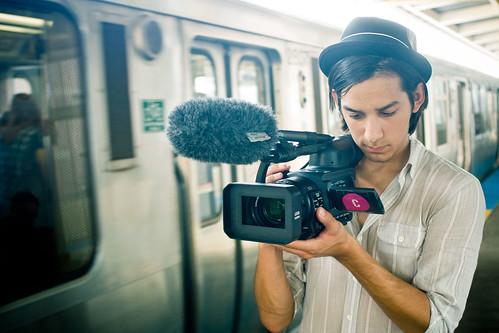 Matt filming L train