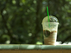Starbucks environment (Gerardography) Tags: verde green colors contrast canon 50mm bokeh caramel starbucks environment 18 frappuccino 500d frape contaste frapuchino t1i