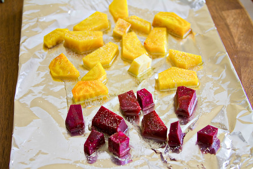 Roasted Beet, Artichoke, and Sweet Corn Salad - 1