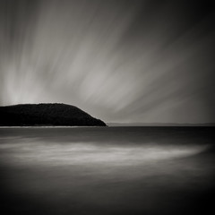 The Whaleback (Jeff Gaydash) Tags: longexposure blackandwhite water square leland michigan lakemichigan lakescapes whaleback leleanau