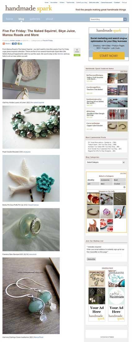 Blog Mention on Handmade Spark!