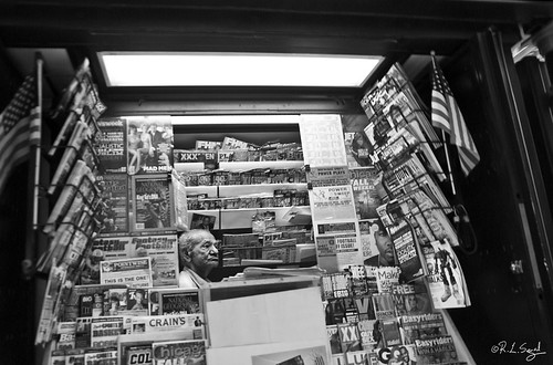 Newsstand Vendor, Chicago