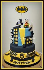 Batman Cake (Sweet Pudgy Panda) Tags: birthday moon black robin yellow cake chocolate bat superhero batman dccomics bats picnik fondant gothamcity gumpaste