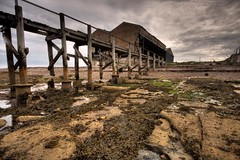 Buckie Boat Yard and Pier (Pleasureprinciple2013) Tags: beach canon scotland pier harbour disused hdr moray boatyard buckie pleasureprinciple 40d