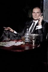 IMG_1383xtn2 (lucaschyrek) Tags: portrait musician music man male fashion gangster glamour gun handsome smoking tuxedo mature killer pistol sax tux gangsta saxophone gentleman mafioso