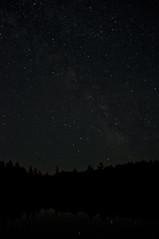 Night Sky Over Killarney (Just before moonrise) (Michael Vermeer) Tags: park trip camping trees summer sky tree silhouette night way stars canoe killarney milky 2010 provincial milkyway canoetrip killarneyprovincialpark