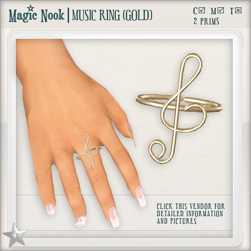 [MAGIC NOOK] Music Ring (Gold)