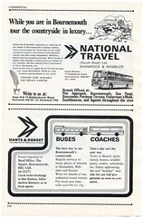 1977 Bournemouth Guide page 244 (Alwyn Ladell) Tags: thesquare headoffice coachstation nationalbuscompany nationaltravel shamrockrambler 1977bournemouthguide holdenhurstroadhantsdorsetmotorservices