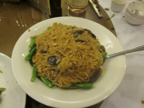 Yum's Bistro - Fremont, CA - April 2011 - Longlife Noodles with Abalone and Mushrooms