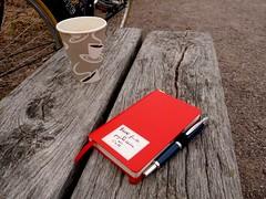 #dailyarsenal Pilot vp w Pilot blue, red pocket leuchtturm notebook, bike, coffee, camera (yesterday arsenal) (ladydandelion) Tags: coffee bike ink notebook spring fountainpen pilot leuchtturm fountainpens pilotvp dailyarsenal