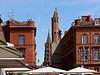 photo - Church Towers, Toulouse (Jassy-50) Tags: photo toulouse france placeducapitole ruedutaur church churchspire spire tower umbrella notredamedutaur saintserninbasilica saintsernincathedral steeple belltower streetlight lamppost