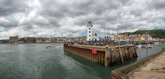 South Bay and Lighthouse (James Cottrell 1) Tags: scarborough north yorkshire uk south bay lighthouse boats seaside sea clouds summer