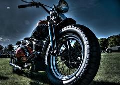 Cafe Racer (Steve.T.) Tags: motorcycle motorbike maldoncarshow classicsonthepromenade classicsontheprom caferacer classicbike harleydavidson iconicmotorcycle lowangle maldon maldonprom nikon d7200 sigma18200