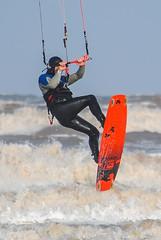 Kitesurfer at Fraisthorpe (Eeee Bi Gum) Tags: kitesurfing fraisthorpe eastyorkshire waves sea action