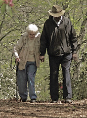 Walking Miss Daisy (coollessons2004) Tags: aged woman man drivingmissdaisy care seniors poignant touching