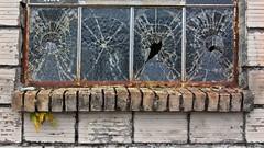 Broken Window 5688 C (jim.choate59) Tags: glass window hww brokenglass brokenwindow vandalism jchoate decay texture on1pics rx100