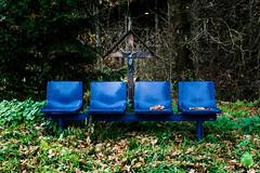 blaue Stühle 1 (TuppesColonia) Tags: trierscheid eifel stühle bänke natur nürburgring tribüne wald blau objekt