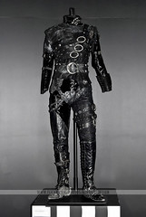 Johnny Depp's Edward Scissorhand costume (Naomi Rahim (thanks for 5 million visits)) Tags: black art leather costume gallery gothic australia melbourne exhibition movies launch johnnydepp 90s acmi timburton 2010 edwardscissorhands steampunk naomirahim