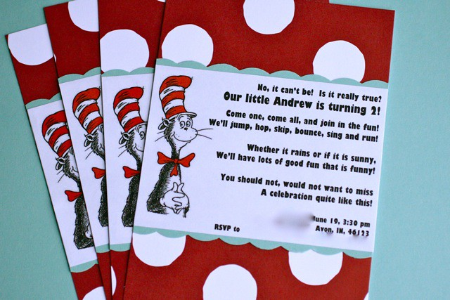 andrew's second birthday party - annie's eats, Party invitations