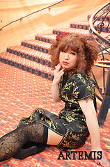 Saori Kudo (Artemis Japan crossdressing service Tokyo Yokohama) Tags: travel pink wedding art up japan photography photo pin dress cosplay sweet cd makeup crossdressing tgirl lolita transvestite kimono makeover maid crossdresser pinup ts outing 制服 gyaru nikkon house  ロリータ gosic femalevoice transvistites