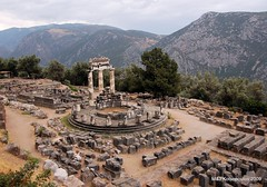 Sanctuary of Athena at Delphi (John & Mel Kots) Tags: clouds oracle ancient ruins delphi hellas historic unescoworldheritagesite unesco worldheritagesite greece grecia grece ancientgreek ellada ancientdelphi