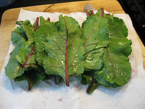 beet greens clean
