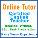 Online ESL and English Tutor