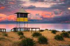 Stormy Sunset (-yury-) Tags: ocean sunset sea sky seascape storm tower beach clouds landscape australia stormy nsw centralcoast theentrance stormysunset