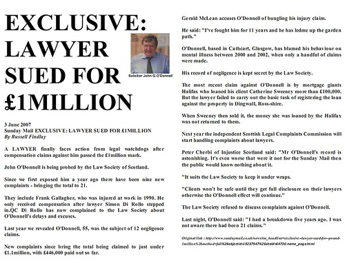 EXCLUSIVE Lawyer sued for 1million