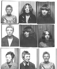 Cheryl De Carteret Photo booth pics 1960's (cheryldecarteret) Tags: white black check photobooth bradford pics suntan 1960s hastings badges corduroy bournmouth beatnik hairstyles flowerpower mods cnd dufflecoat trousersuits