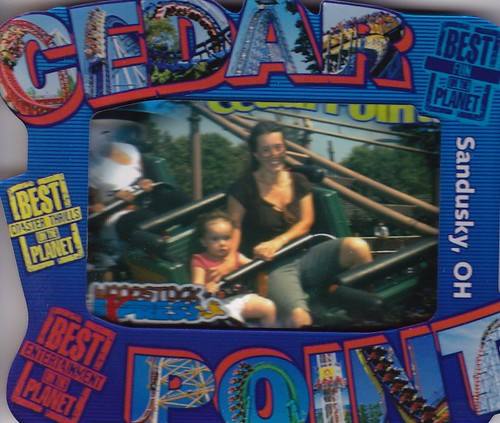 fearless Annabel takes her first roller coaster ride!