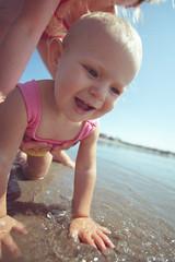 _MG_4919 (k.a. gilbert) Tags: ocean baby playing beach water lucy sand surf waves daughter newport shore handheld seashore manualfocus 116 firstbeach eastons tokina1116mmf28