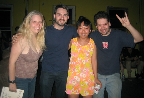 20100612 - Food Party in Baltimore - 0 - Carolyn, Matt Fitzpatrick & Thu Tran of Food Party, Clint - IMG_0853