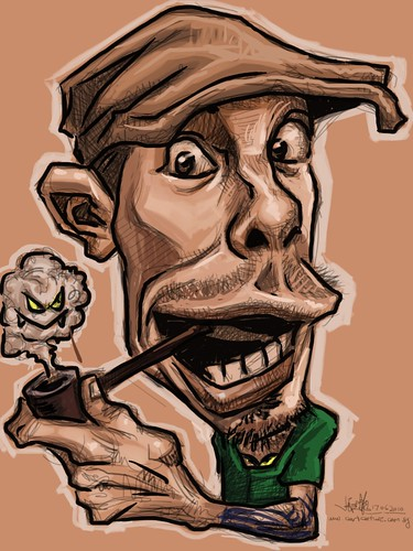 iPad digital caricature of Jason Seiler - 4