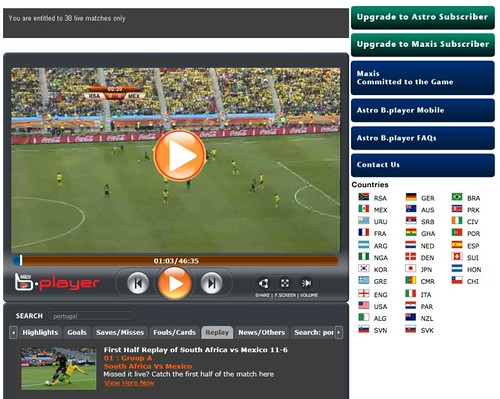 Astro B.player - Watch World Cup LIVE Online For Free