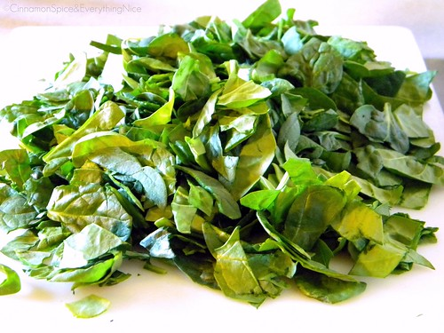 Chopped Baby Spinach Leaves