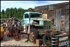 HDR #598 - Junk Pile (Pete's Photo Magic) Tags: usa psp montana pentax hdr topaz photomatix k20d