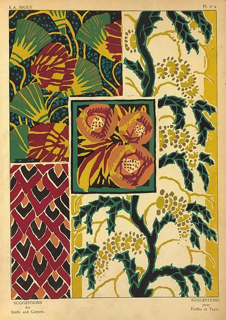 031-Suggestions pour étoffes et tapis 60 motifs en couleur 1927- Eugene Alain Seguy