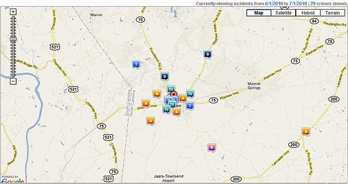 Waxhaw Crime Reports June 2010