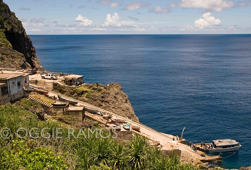 Batanes Itbayat Chinapoliran Sloping Port from the Hillside