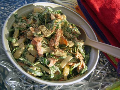 jicama & collard slaw with creamy sunflower dressing