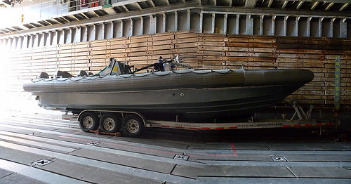 Parked boat (panorama)