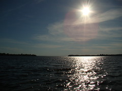 Over the River (skhaan) Tags: sky sun water beauty river landscape afternoon ottawa land