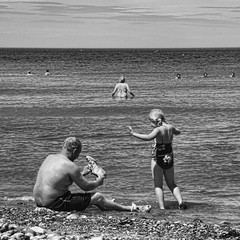balance (Nick J Stone) Tags: street people west beach photography candid norfolk runton