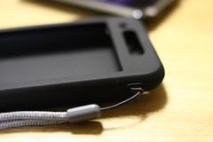 Suicaも収納できそのまま使えるiPhoneシリコンケース PDA-IPH62BK