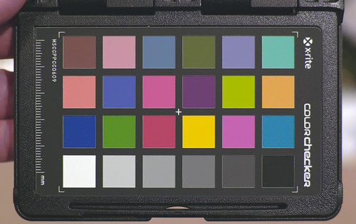 X-Rite ColorChecker - UniWB - adjusted with curves