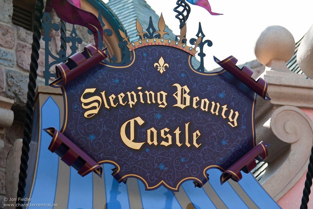 Sleeping beauty castle inside disneyland