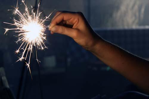 sparkles.