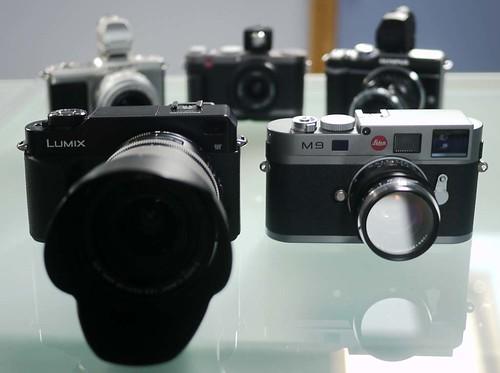Olympus E-P2 Olympus E-PL1 Leica X1 Leica M9 Panasonic L1